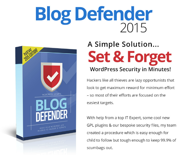 Blog Defender 2015 Features