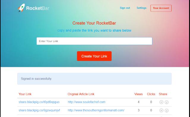 Rocket Bar Features