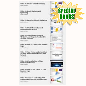 Special Bonuses - June 2015 - List Authority Gold Video Series