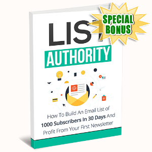Special Bonuses - June 2015 - List Authority