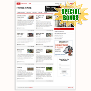 Special Bonuses - June 2015 - Horse Care Niche Blog