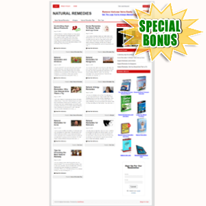 Special Bonuses - June 2015 - Natural Remedies Niche Blog