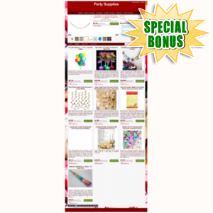 Special Bonuses - June 2015 - Party Supplies Web Store Niche Blog