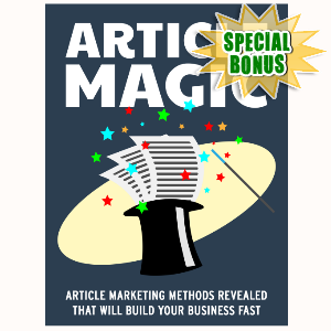 Special Bonuses - July 2015 - Article Magic