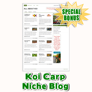 Special Bonuses - July 2015 - Koi Carp Niche Blog