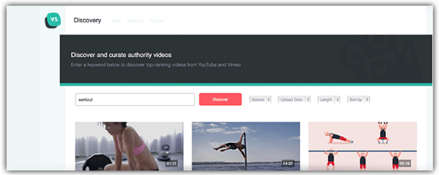 Video Studio Features - One-Click Content Discovery
