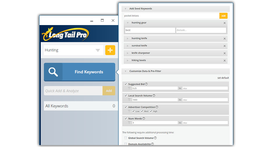 Long Tail Pro v3 Features - Keyword Research