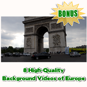 Video Skins Bonuses  - 8 High-Quality Background Videos of Europe