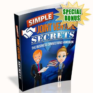 Special Bonuses - August 2015 - Simple Joint Venture Secrets