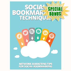Special Bonuses - August 2015 - Social Bookmarking Techniques