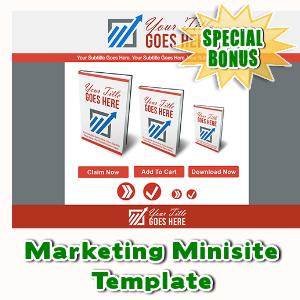Special Bonuses - August 2015 - Marketing Minisite Template