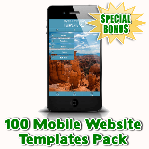 Special Bonuses - August 2015 - 100 Mobile Website Templates Pack