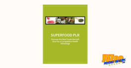 Super Foods PLR Review and Bonuses