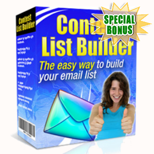 Special Bonuses - September 2015 - Contest List Builder Software