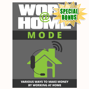 Special Bonuses - September 2015 - Work At Home Mode