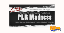 PLR Madness Review and Bonuses