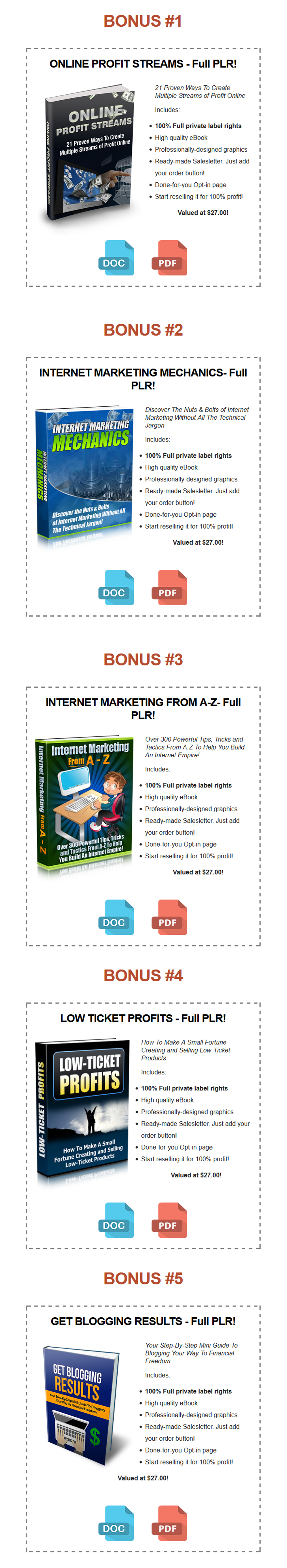 Niche Authority Done-For-You PLR Bonuses