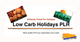 Low Carb Holidays PLR Special Review and Bonuses