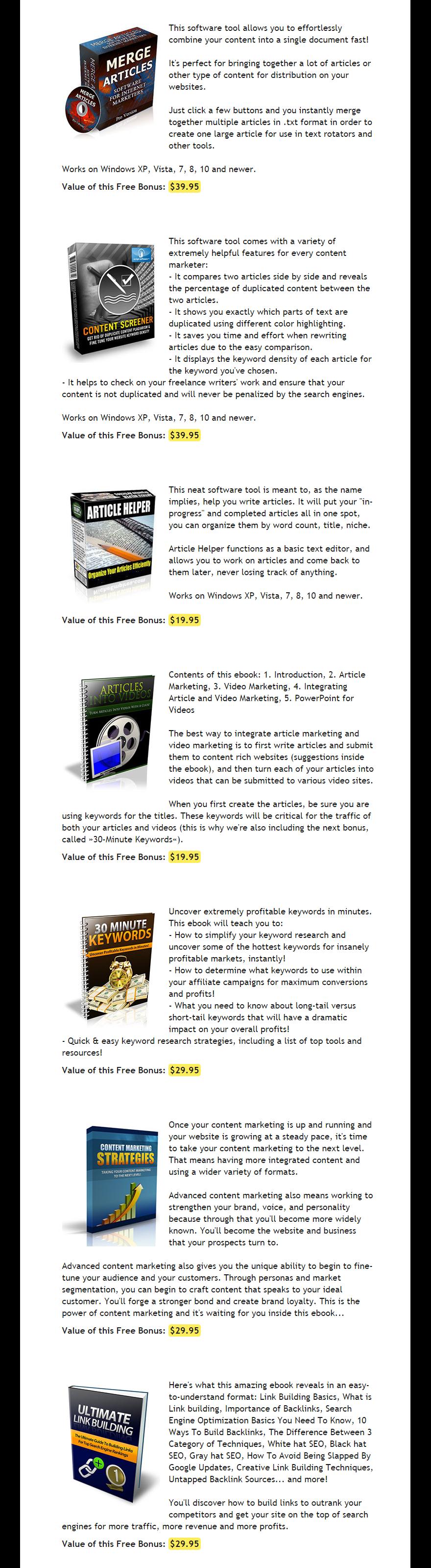 Spin Rewriter V6 Bonuses