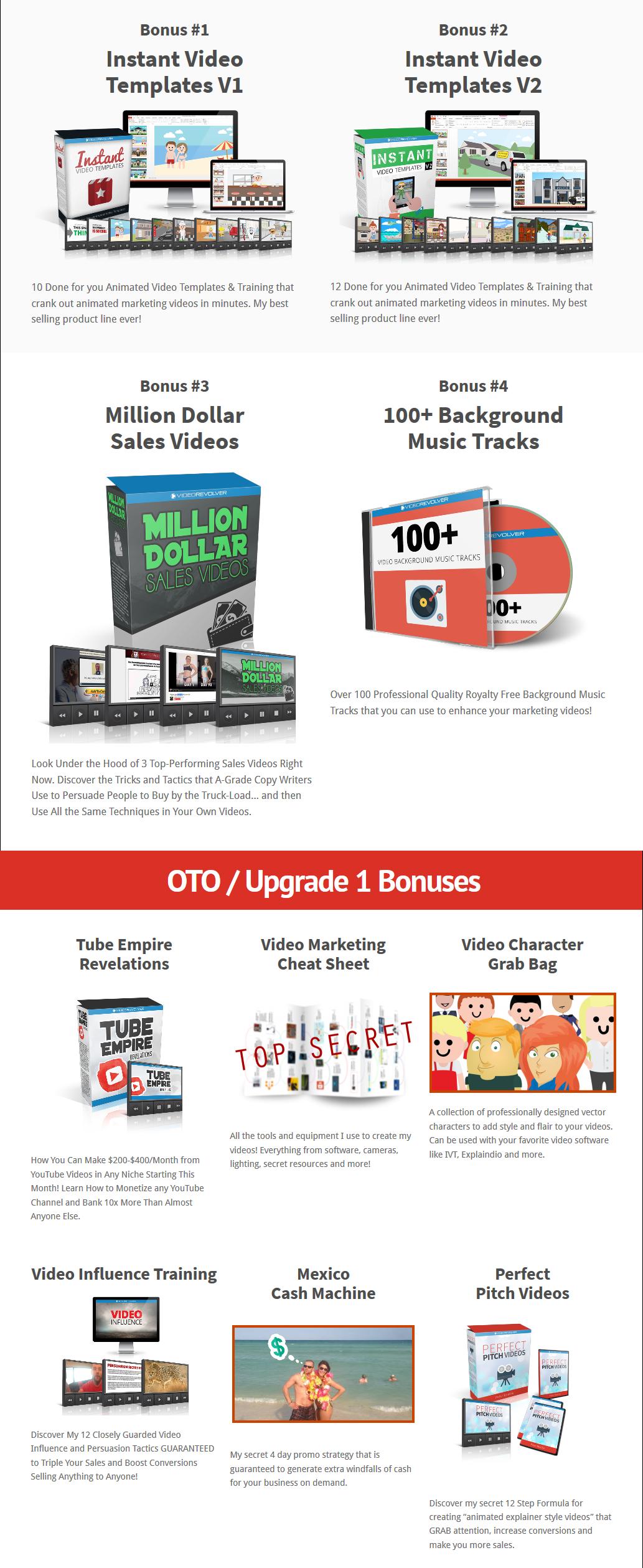 Video Bookmarker Bonuses