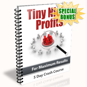 Special Bonuses - November 2015 - Tiny Niche Profits