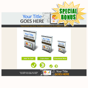 Special Bonuses - November 2015 - Marketing Minisite Template