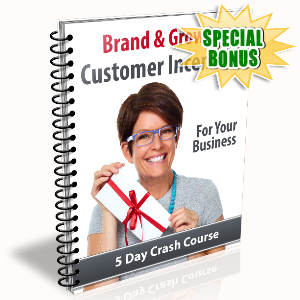 Special Bonuses - November 2015 - Brand & Grow With Customer Incentives