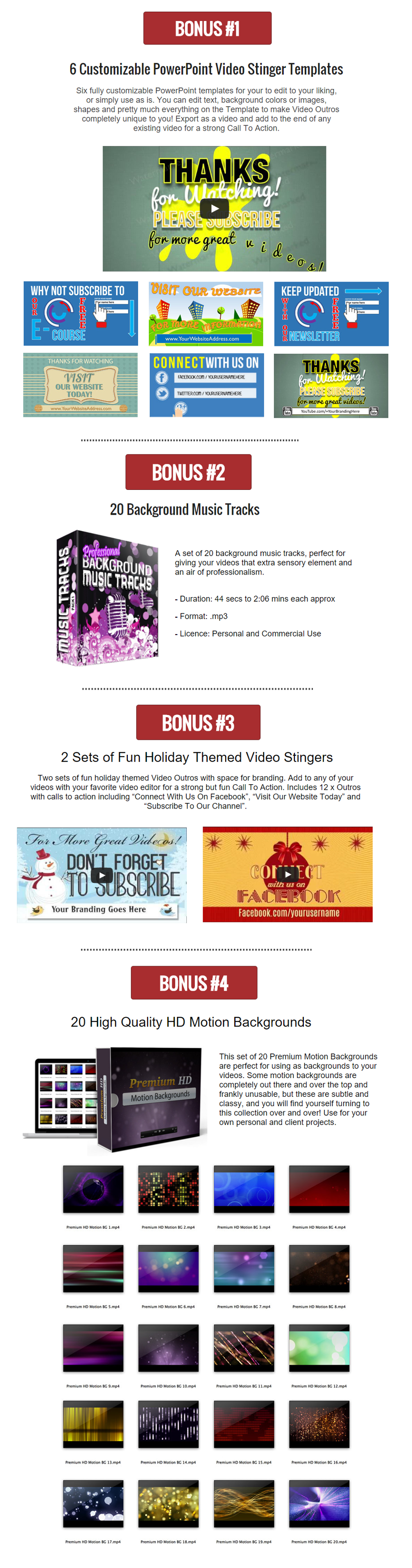 VidStickers Bonuses