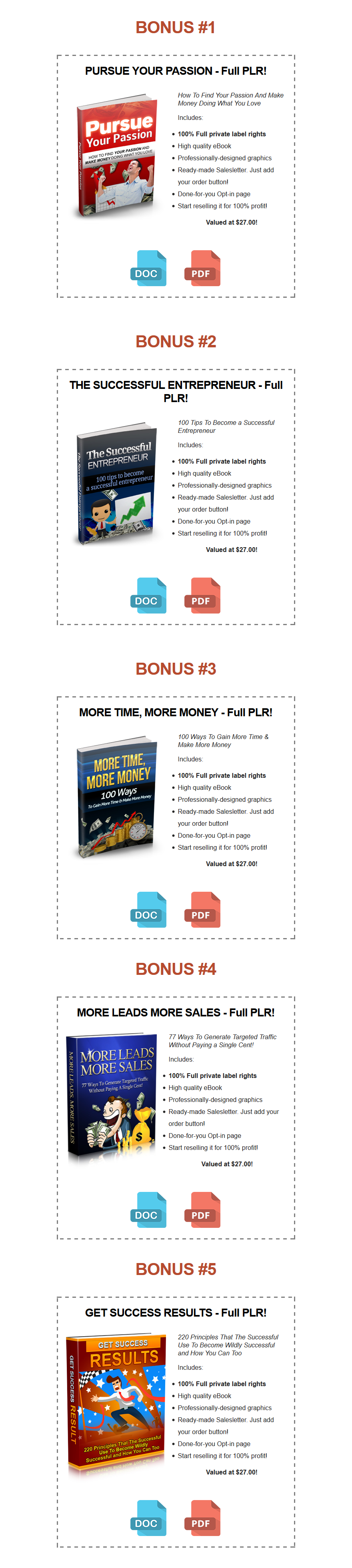 Coaching Authority PLR Bonuses