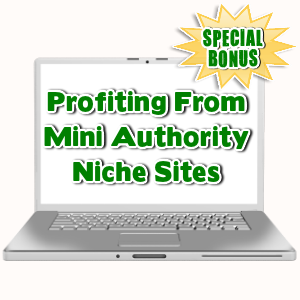 Special Bonuses - January 2016 - Profiting From Mini Authority Niche Sites