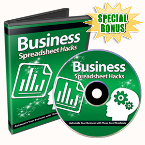 Special Bonuses - January 2016 - Business Spreadsheet Hacks Video Series