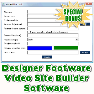 Special Bonuses - January 2016 - Designer Footware Video Site Builder Software