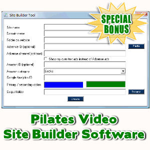 Special Bonuses - February 2016 - Pilates Video Site Builder Software