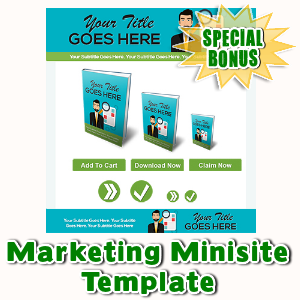 Special Bonuses - February 2016 - Marketing Minisite Template