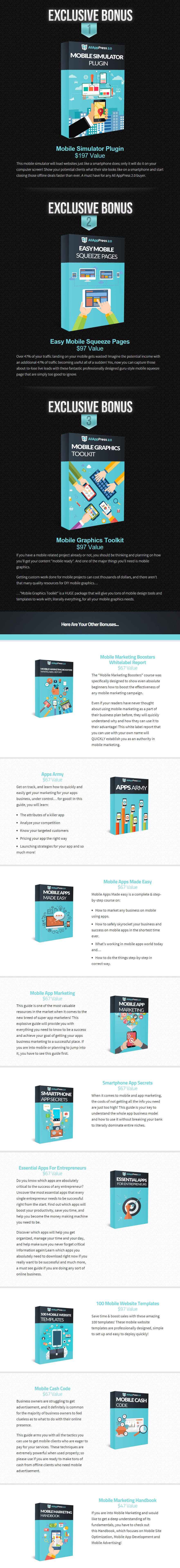 AllAppPress V2 Bonuses