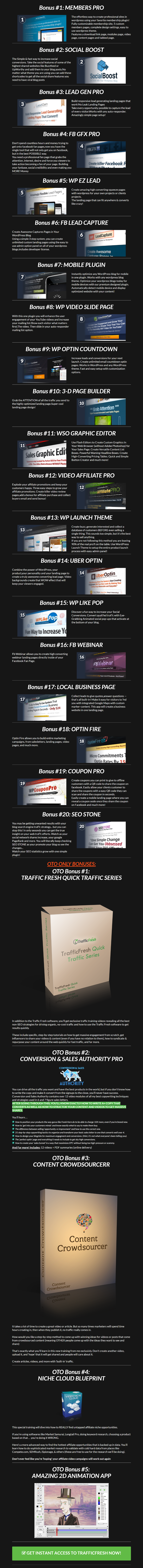 TrafficFresh Bonuses