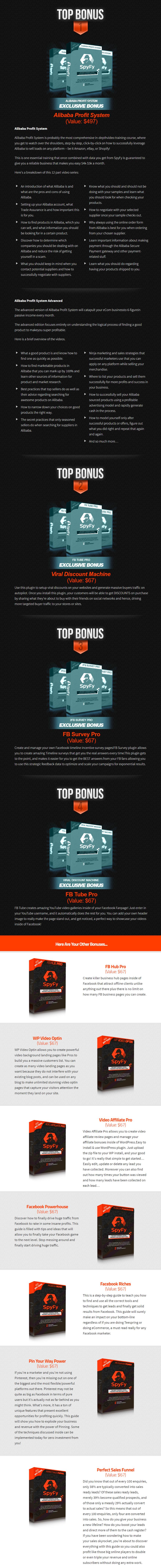 SpyFy Bonuses
