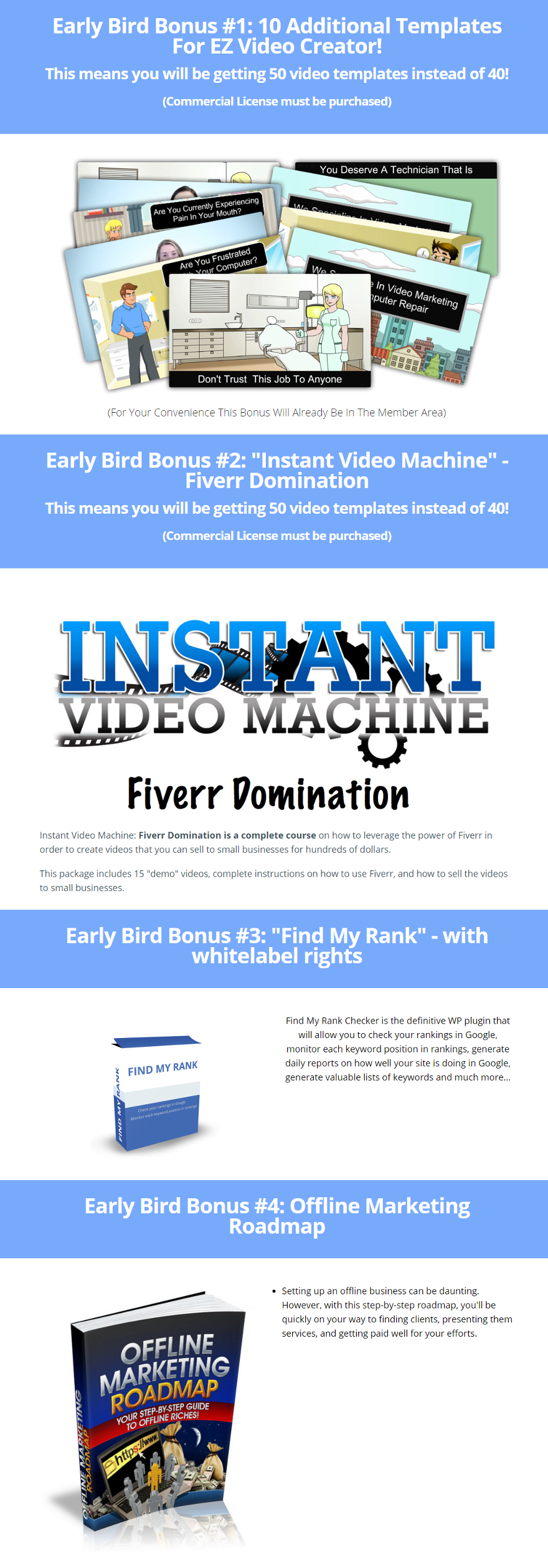 EZ Video Creator Bonuses