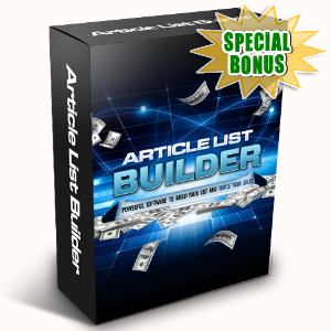 Special Bonuses - April 2016 - Article List Builder Software