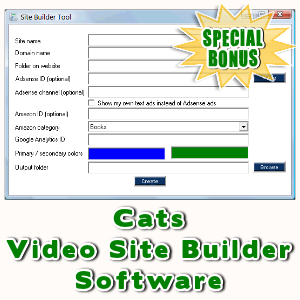 Special Bonuses - April 2016 - Cats Video Site Builder Software