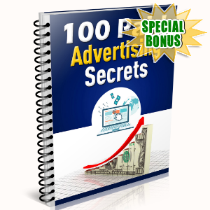Special Bonuses - May 2016 - 100 Paid Advertising Secrets