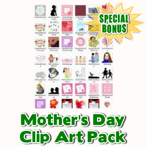 Special Bonuses - May 2016 - Mother's Day Clip Art Pack