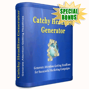 Special Bonuses - May 2016 - Catchy Headline Generator Software