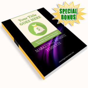 Special Bonuses - May 2016 - Marketing Minisite Template