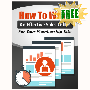 FREE Weekly Gifts - June 20, 2016 - How To Write An Effective Sales Letter For Your Memberhsip Website