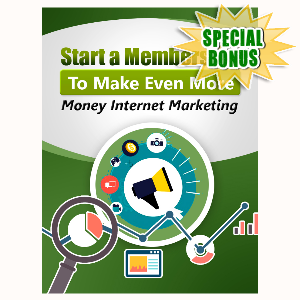Special Bonuses - June 2016 - Start A Membership