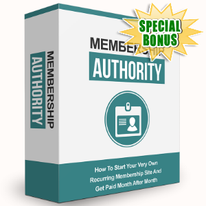 Special Bonuses - June 2016 - Membership Authority