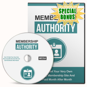 Special Bonuses - June 2016 - Membership Authority Gold Video Series