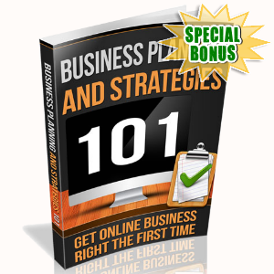 Special Bonuses - June 2016 - Business Planning And Strategies 101