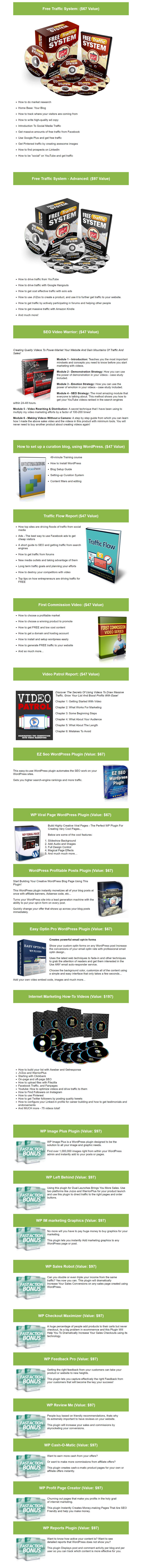 1-Click Video Site Builder Plugin Bonuses